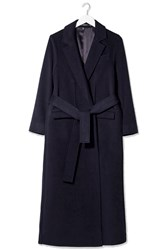 Cashmere Wrap Coat By Boutique Navy Blue