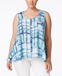 Styleandco. Style And Co. Plus Size Plaid Sleeveless Blouse Only At Macy's Pretty Plaid