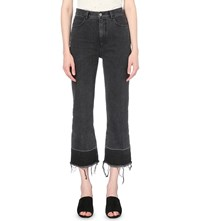 Rachel Comey Legion Wide Released Hem High Rise Jeans Washed Black