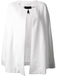 Jay Ahr Mid Length Poncho White