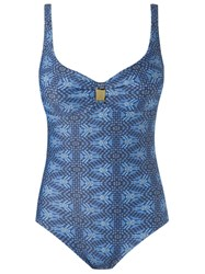 Lygia And Nanny Abstract Print Swimsuit Blue