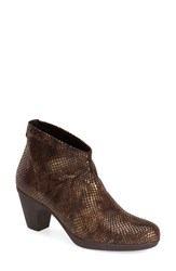 Women's Toni Pons 'Finley' Bootie Brown Reptile Print Fabric