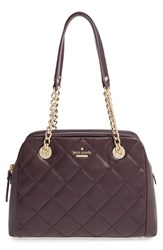 Kate Spade New York 'Emerson Place Dewy' Quilted Satchel Brown Dark Mahogany