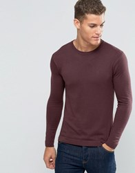 United Colors Of Benetton Viscose Mix Crew Neck Jumper Wine 1H8 Red
