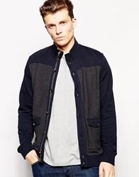 Ted Baker Cardigan In Jersey Navy