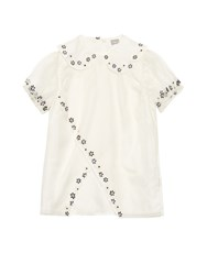 Jupe By Jackie Pumala Embroidered Blouse