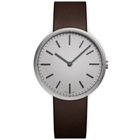 Uniform Wares M37 Wristwatch Brushed Steel And Brown Leather