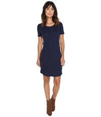 Splendid Codette Mini Rib T Shirt Dress Academy Navy Women's Dress