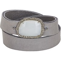 Feathered Soul Women's Diamond Opal And Leather Wrap Bracelet No Color