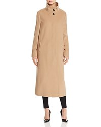Basler Long High Neck A Line Coat Camel