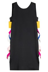 Msgm Cocktail Dress With Contrast Side Panel Black