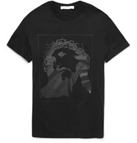 Givenchy Cuban Fit Printed Cotton Jersey T Shirt Black