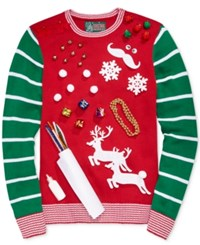 Retrofit Men's Diy Ugly Holiday Sweater Kit Cayenne