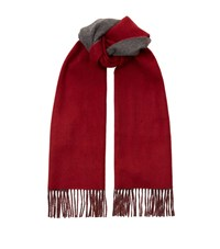 Harrods Of London Reversible Scarf Unisex Red
