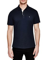 Rag And Bone Rag And Bone Solid Regular Fit Polo Shirt Navy