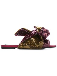 N 21 No21 Bow Detail Sandals Purple
