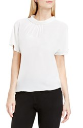 Vince Camuto Women's Shirred Mock Neck Blouse New Ivory