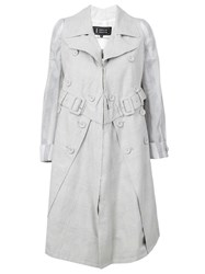 Anrealage A Line Trench Coat Grey