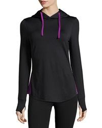 Marc Ny Performance Hi Tech Colorblock Hoodie Black Bright