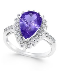 Macy's Tanzanite 3 1 6 Ct. T.W. And Diamond 1 2 Ct. T.W. Ring In 14K White Gold