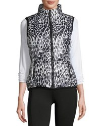 Marc New York Packable Printed Puffer Vest Wine