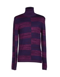 Fabrizio Del Carlo Knitwear Turtlenecks Men Blue