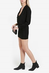 Anthony Vaccarello Lace Up One Sleeve Dress Black