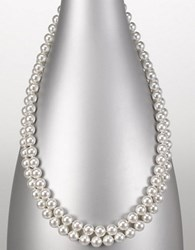 Majorica 8Mm Endless Round Pearl Necklace White