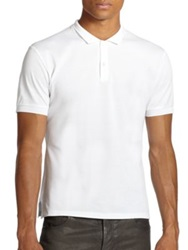 Alexander Mcqueen Pique Cotton Skull Polo White