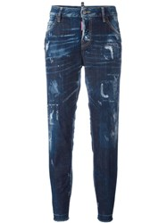Dsquared2 Cool Girl Bleached Effect Jeans Blue