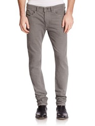 Diesel Black Gold Distressed Slim Straight Jeans Grey