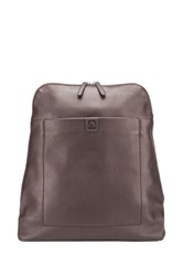 Delsey Pernety 14' Leather Laptop Backpack Brown