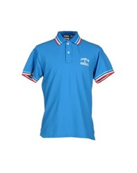 Franklin And Marshall Topwear Polo Shirts Men Azure