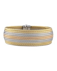 Alor Grey Rose And Yellow Stacked Cable Bangle Multi