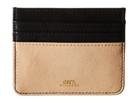 Obey Gentry Deuce Id Wallet Black Tan Wallet