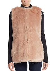 Bagatelle Faux Fur Vest Light Pink