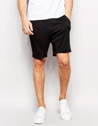 Hugo By Hugo Boss Sweat Shorts With Nylon Waistband Black