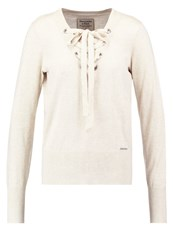 Abercrombie And Fitch Jumper Oatmeal Off White