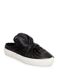 Steve Madden Cal Leather Knotted Sneaker Mules Black