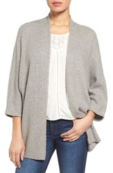 Halogenr Women's Halogen Open Front Knit Cardigan Grey Medium Heather