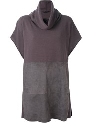 Fabiana Filippi Cowl Neck Jumper Brown