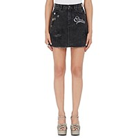 Marc Jacobs Women's Embellished Denim Miniskirt Black Blue Black Blue