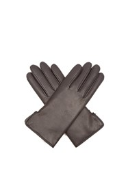 Agnelle Rabbit Fur And Leather Gloves Dark Grey