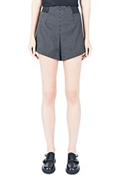 Emiliano Rinaldi Striped Safari Shorts Black