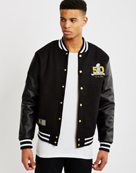 Majestic Athletic Collectors Edition Patch 50 Letterman Jacket Black