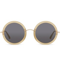 The Row Row830 Signature Round Sunglasses Moss