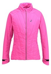 Asics Speed Hybrid Sports Jacket Pink Glow Neon Pink
