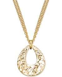Erwin Pearl Atelier For Charter Club Gold Tone Enamel Swirl Pendant Necklace Only At Macy's