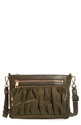 M Z Wallace Mz 'Abbey' Bedford Nylon Crossbody Bag Green Pine Bedford