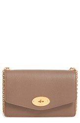 Mulberry 'Postman's Lock' Leather Crossbody Clutch Grey Clay
